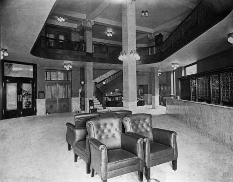 The lobby of the Seattle Hotel.  Courtesy Michael Maslan