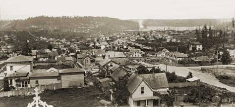 Judkins 1887 panorama looking north from the Central School tower on the south side of Madison Street between Marion and Madison shows Seventh Avenue ,on the right, heading north towards its intersections with Spring and Seneca Streets.  At
