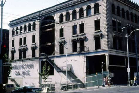 Lawton Gowey's capture of the Globe on Sept. 16, 2981 preparing for its restoration as a swank hotel.