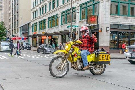Tom Samuelsen rides away easy...