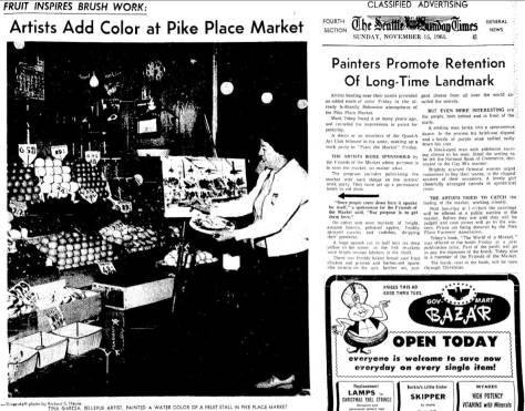 Seattle Times clipping from November 15, 1964
