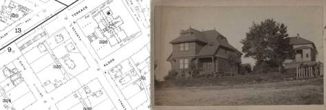 The Boone home is found in this early-1890s Sanborn map
