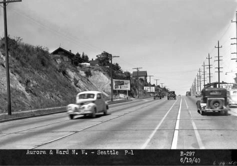 Aurora, looking north towards Ward Street on June 19,1940.