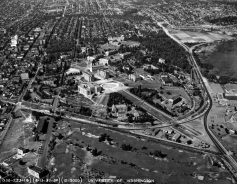 To a trained eye - and by now your's too - Anderson Hall can be locateed in this 1937 aerial