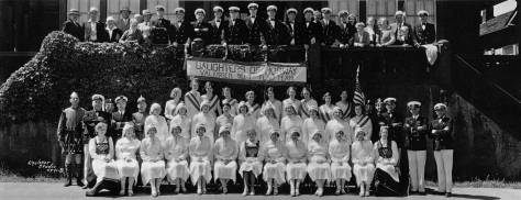 Daughters of Norway at Norway all with some Sons or suitors in suits or uniforms.