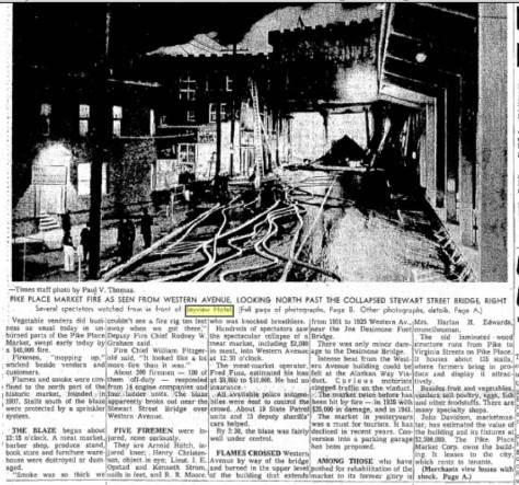 Not the same fire! And earlier one and another Times clip, this from Nov. 11, 1961.