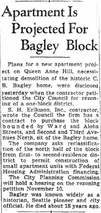 A Seattle Times clip from Oct. 13, 1945.
