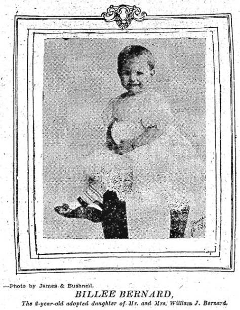 Baby Billie Bernard in The Times for Aug. 20, 1911.