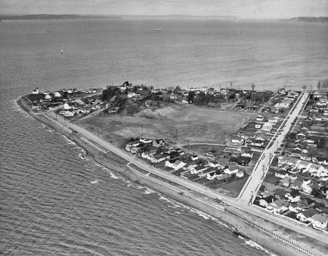 Alki Point, circa 1950. Courtesy The Seattle Times.