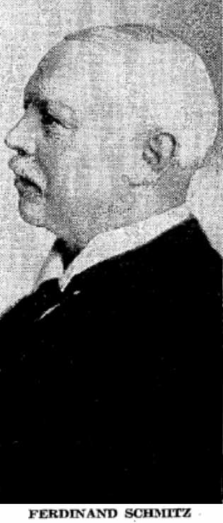 The Ferdinand Schmitz chosen by The Seattle Times editors to illustrate his obituary notice of August 23, 1942. Seventeen years later Emma's passing was noted but not illustrated by The Times.