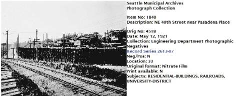 Like the view printed above it, this was pulled directly from the Seattle Municipal Archives' on-line photo archive. Exploring it can be very rewarding. (Courtesy, Seattle Municipal Archive.)