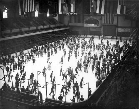 Public skating at the civic rink photographed for the Post-Intelligencer and used courtesy of the Museum of History and Industry.