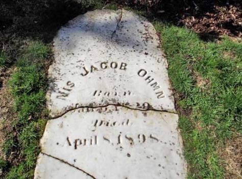 """Nis Jacob Ohmn"" is what is chiseled on the surviving door to his collapsed monument, his ""little room."""