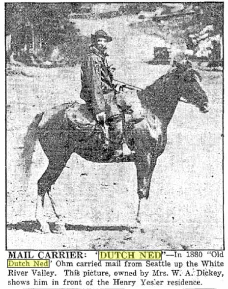 z-March-18,-1934--cllip-of-Dutch-Ned-on-his-horse,-Pix-owned-by-Mrs.-W.A.-Dickey,-'shows-him-in-front-of-the-Henry-Yesler-residence-WEB