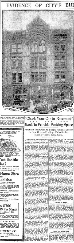 To have a chance of reading this Seattle Times clip from May 13, 1923 you must click it and your heels several times. It include news of the Epler Block's - at the mere age of thrity-three, destruction.