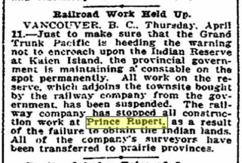 Meanwhile, or about that time . . . A Seattle Times clip from April, 11, 1907.