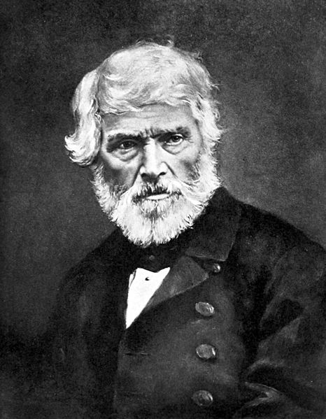 Thomas Carlyle, born and buried in Ecclefechan.