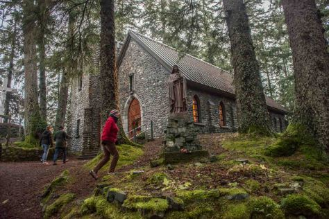 A retreat/shrine to St. Therese of Lisieux - nestled in a lovely islet forest