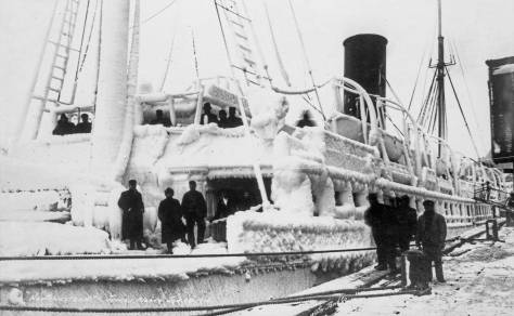Dated 1916, a winter harbor scene at Juneau probably a bit colder than Jean's and Karen's a century later.
