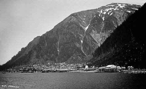Juneau with its namesake mountain above it. By LaRoche (Courtesy of Michael Maslan)