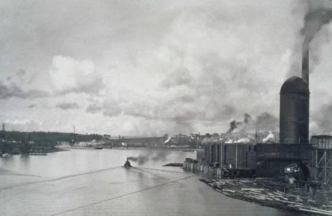 Seattle Cedar looking west from the Ballard Bridge.