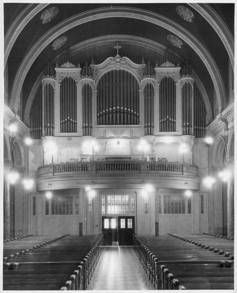 St. James Cathedral - The original organ loft, before the crash.