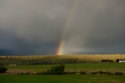 Rainbow seen from I-90 just west of Ellensburg, Thursday evening
