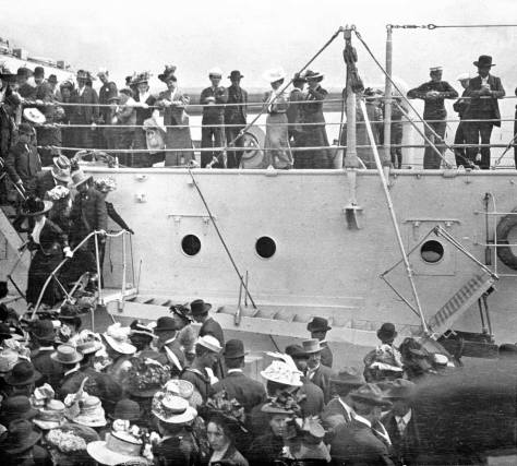 The days of the Fleet's visit were filled with a variety of sensations including visits to the battleships and fireworks.