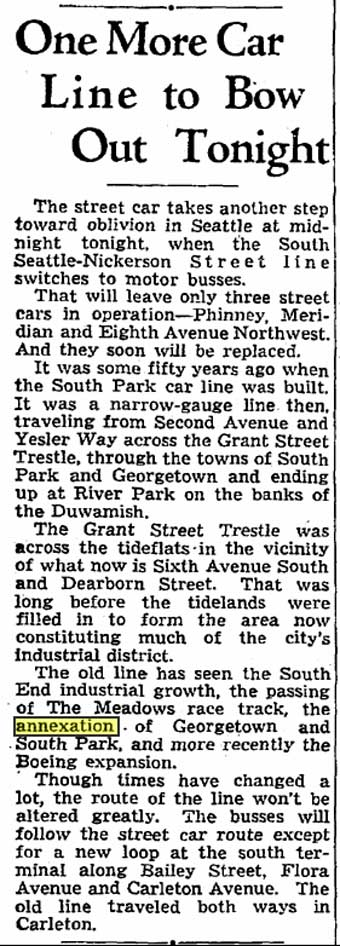 A Seattle Times clip from 1941.
