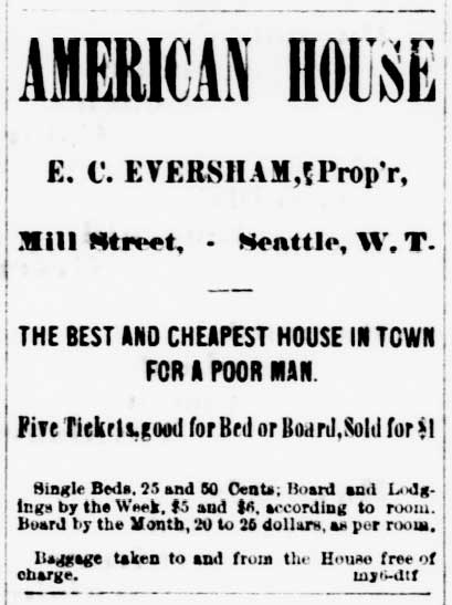 Ad for the American House, July 26, 1879