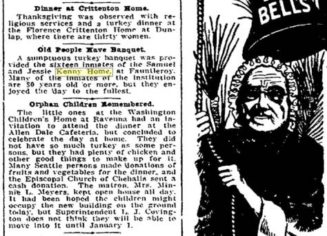 This early social note from the Times for Nov. 26, 1908