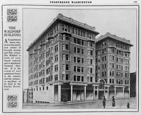 "The Waldorf's presentation in the booming publication ""Prosperous Washington."""