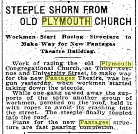 A Times clipping from May 23, 1913. (Courtesy of The Seattle Times and the Seattle Public Library.)