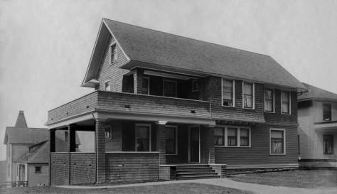 """The rear facade of Delta Gamma shows on the left in another photograph taken by the Webster Stevens Studio and used here courtesy of the Museum of History and Industry. Kappa Kappa Gamma, the primary subject here is mid-block on the west side of 15th Ave. East. The montage of Secret Societies included below dates from Sept 10, 1905. It show a new home for Delta Gamma, most likely on the east side of 14th Ave. aka """"The Ave."""" (Courtesy, Museum of History and Industry)"""