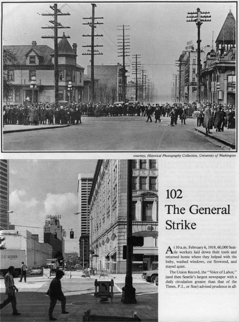 First page to a now-then treatment of the 1919 General Strike. When we find page 2 we will insert it.