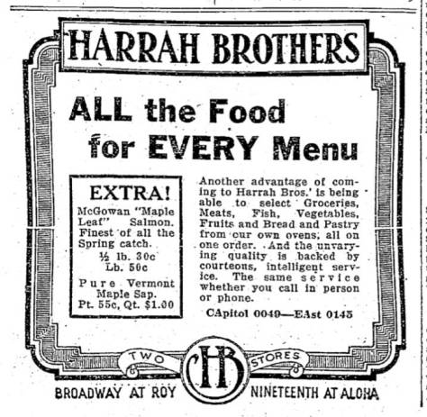 An ambitious ad from either Harrah or Heaven run in The Times one Sept. 9, 1926.