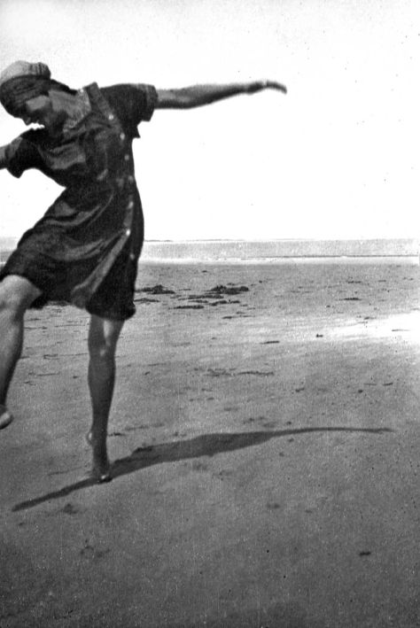 NURSE AT THE BEACH (NORMANDY)