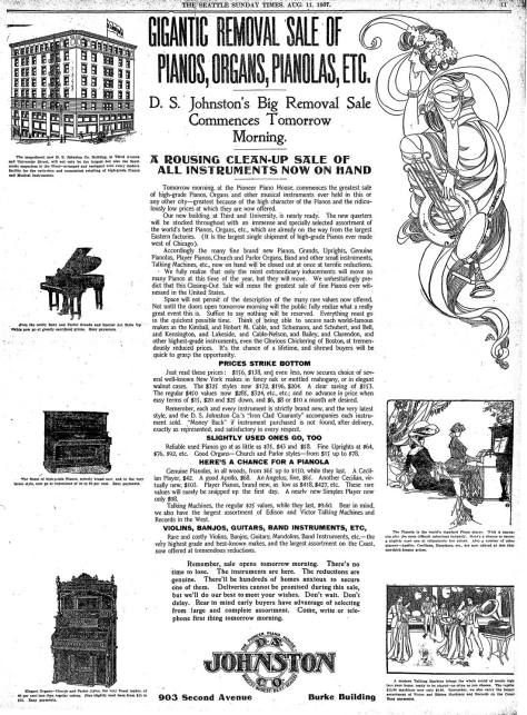 From The Seattle Times for August 11, 1907. CLICK TWICE to Read.