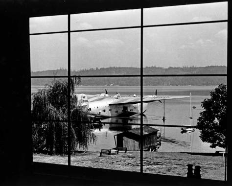 The Boeing Clipper at Matthews Beach, its testing harbor on Lake Washington.
