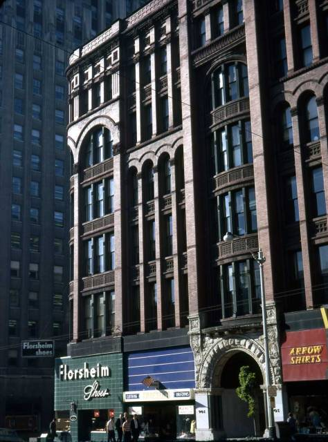 Lawton Gowey's Sept 14, 1967 portrait of the Burke Building. Perhaps Lawton knew it was doomed.