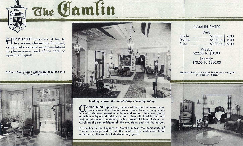 Seattle Now Amp Then The Camlin Hotel Dorpatsherrardlomont