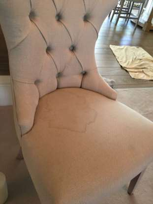 linen chair deep clean (before)