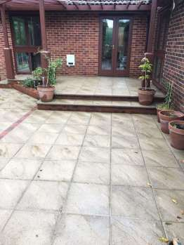 Back garden patio after