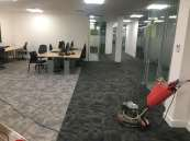 Commercial low moister carpet maintenance cleaning