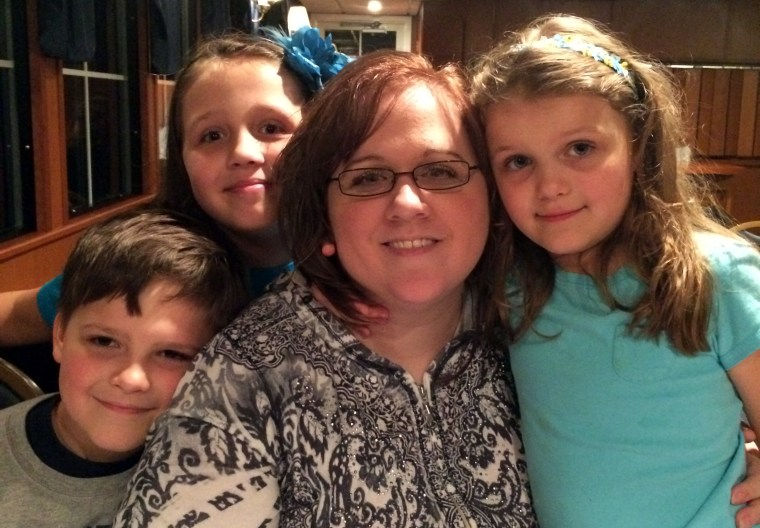 Sarah and kids on Riverboat 2014