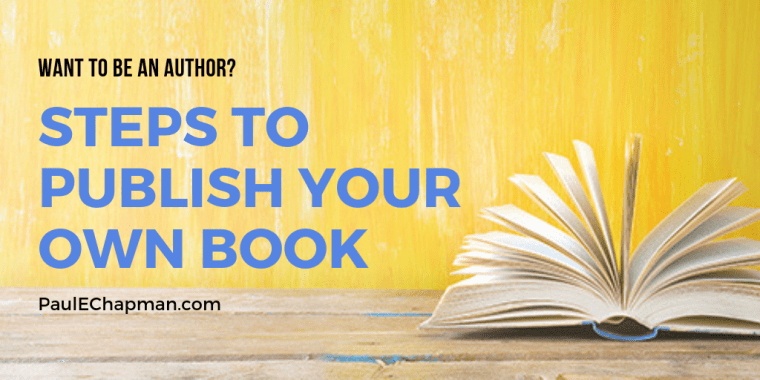 Steps to publishing your own book self publish