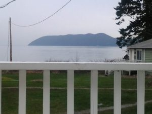 View from Doe Bay Hostel porch (South Sucia)