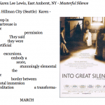 450. Karen Lee Lewis, East Amherst, NY - Masterful Silence
