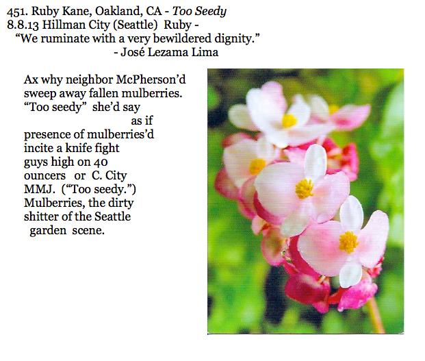 451. Ruby Kane, Oakland, CA - Too Seedy