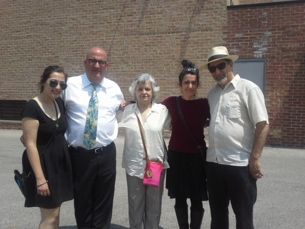 Rebecca Rose, Andrew Glenn, Lesbia Matilde and Paul Everett Nelson Jr. after the post-funeral meal at the Polish buffet. Photo by Cyndie Nelson.
